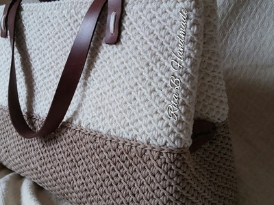 Borsa shopper passo passo a punto canestro doppio obliquo -  crochet