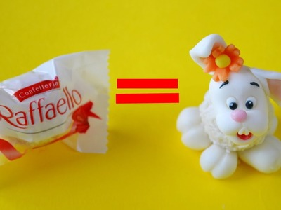 How to make EASTER BUNNY RAFFAELLO CAKE POPS - tutorial coniglietto di Pasqua pasta di zucchero