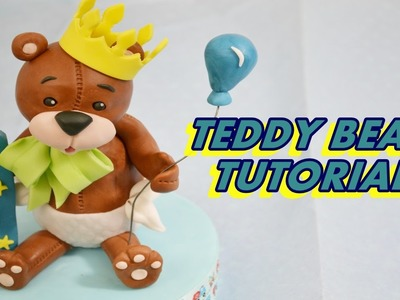 How to make TEDDY BEAR cake topper fondant TUTORIAL orsetto in pasta di zucchero torta