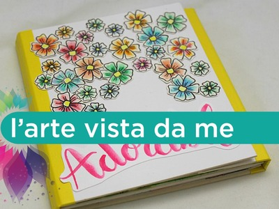 Copertina Mini album accordion (Parte 5) Scrapbooking Tutorial- Pink Your Life.Stampendous