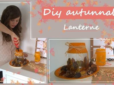 Diy autunnali.fall diy.idee e decorazioni autunnali.lanterne portacandele con foglie secche
