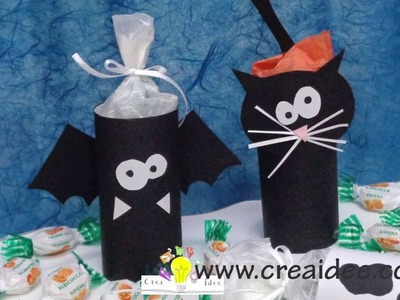 Idee facili per Halloween: Portacaramelle e portapenne - Tutorial DIY di Creaidee