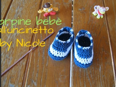 Scarpine bebè all'uncinetto - Tutorial crochet baby slippers