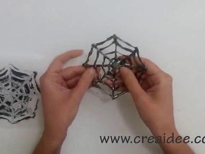 Sottobicchiere Ragnatela Per Halloween - Tutorial DIY di Creaidee