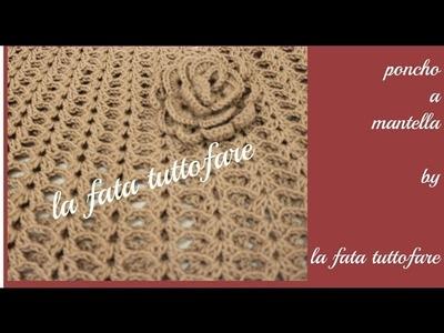 Tutorial: poncho a mantella (poncho crochet)