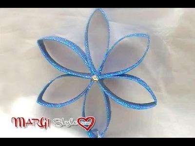 Come creare un fiore con rotolo di carta igienica