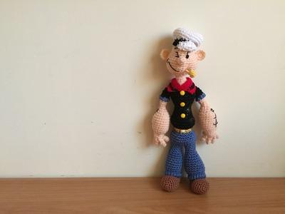 Popeye.Braccio di Ferro Amigurumi (tutorial)