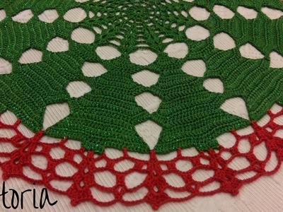 Tutorial - Centrino natalizio parte1 - centro tavola diametro 39 cm