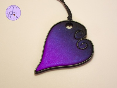 Tutorial: Cuore in Wire e Skinner Blend (polymer clay wire&skinner blend heart)