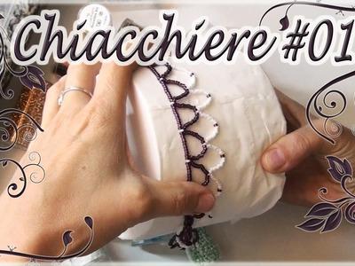 Chiacchiere #13 - Porta rotoli con perline, tecnica Netted ^^ - Fai da te con perline
