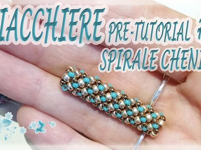 Chiacchiere #19 - spirale Chenille con perline - Campione di spirale Chenille per bracciale