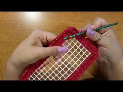 Bauletto all'uncinetto su rete   bolso crochet en la red   crochet bag with the grid