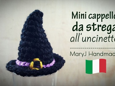 Tutorial uncinetto: mini cappello da strega