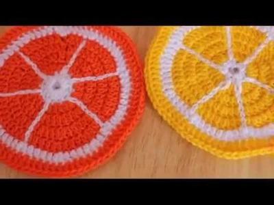 Sottobicchieri fetta di arancia e limone (uncinetto) - Coloriamo l'estate 2016!