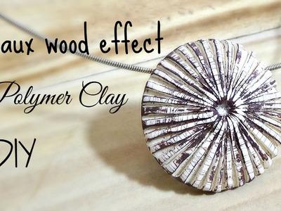 Pendente finto legno polymer clay tutorial  ITALIANO