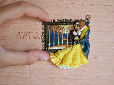 Speed painting with polymerclay - Beauty and the beast dance hall
