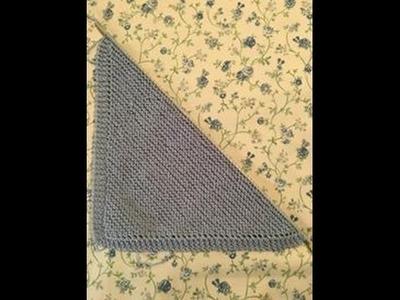 Copertina neonato ai ferri per principianti - punto legaccio in diagonale - 1^ parte