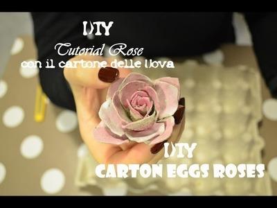DIY come creare una Rosa dal cartone delle uova - How to do carton eggs rose