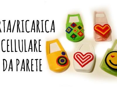 Porta-Ricarica Cellulare da Parete (Riciclo -S.Valentino, festa Papà e della Mamma) Arte per Te