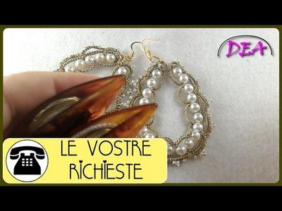"Tutorial N°6 - Orecchini ""Corona di perle"", versione navette. 1°Parte"