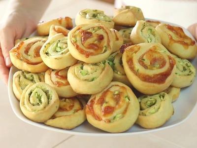 GIRELLE ALLE ZUCCHINE Ricetta Facile Senza Burro e Senza Uova - Zucchini Swirls Easy Recipe