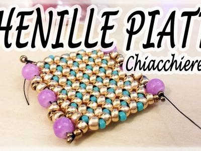 Chiacchiere #20 - Chenille piatta con perline - Campione di Chenille piatta per bracciale