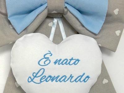 Come creare il Fiocco Nascita www.corredinoneonato.it