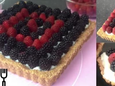 Torta Biscotto ai Frutti di Bosco - Senza Uova e Senza Cottura