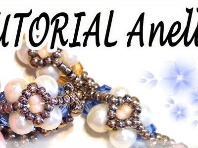 Tutorial perline: come fare anello. bracciale facile con perle e bicono - Gioielli con perline