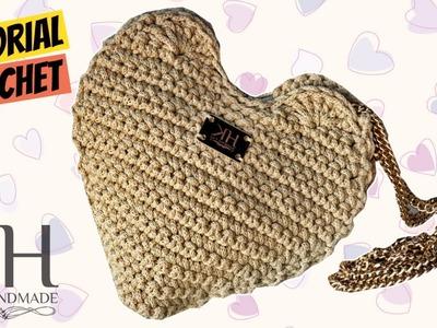 """[BORSE] Tutorial uncinetto pochette """"Cuore""""   """"Heart"""" clutch crochet    Katy Handmade"""