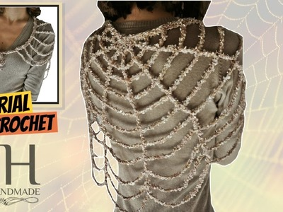 "Tutorial uncinetto scialle ""Ragnatela"" | Crochet shawl || Katy Handmade"