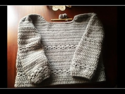 Maglione all'uncinetto come fare passo passo #1 - DIY sweater crochet