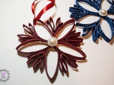 Tutorial: Stella di Natale di Carta e Glitter (ENG SUBS - DIY toilet paper Christmas star)