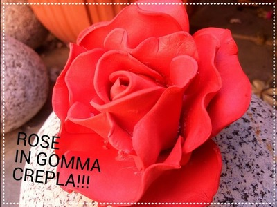 DIY Rose in gomma crepla, fommy o gomma eva!!! I Elimo73