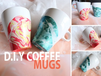 D.I.Y COFFEE MUGS | Watercolor | tazze + smalto ♥︎