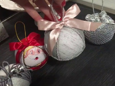 Natale in anticipo. Tutorial palline di natale patchwork