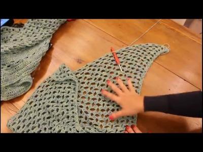 Tutorial  poncho triangolare con cappuccio e maniche