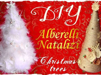 Tutorial: Alberi Decorativi Natalizi con Spago e Piume | DIY Christmas Trees | Collab. HippyWitch