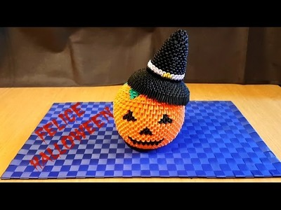 Origami 3D Zucca Halloween Tutorial ITA