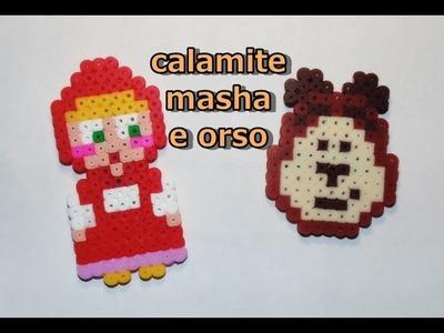 Tutorial: calamite masha e orso con gli hama beads - pyssla