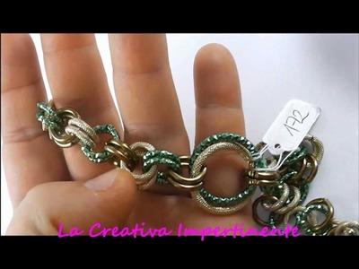 Qualche creazione di Dicembre: bracciali, collane ed orecchini in chainmail - parte 1