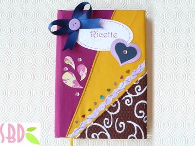 Tutorial: Rivestimento Ricettario con stoffa - Cookbook folding