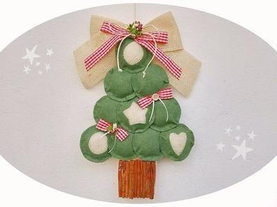 Fuori porta Albero di Natale in feltro senza cucire