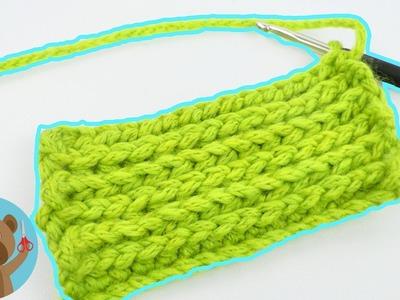 Schema di maglia | Costa inglese all'uncinetto | Istruzioni facili con mezzi punti alti