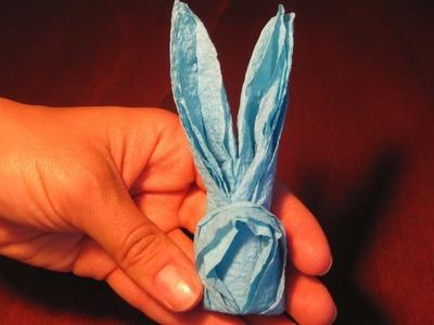 Piegare i Tovaglioli a forma di Coniglio.How to fold napkins in a rabbit