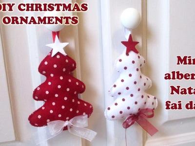 Tutorial: Christmas decorations - Alberi di Natale pannolenci, 2016