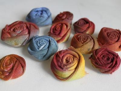 Riciclo creativo Tutorial fiori tessuto: come trasformare un paio di pantaloni in rose