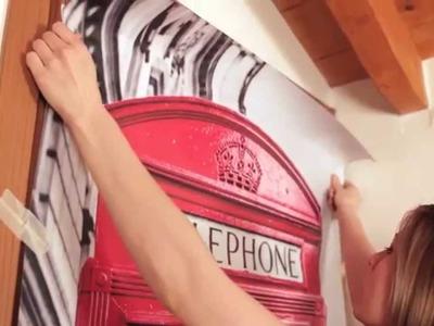 "Tutorial applicazione Adesivo da porta Door Sticker ""Telephone Box"" - Vinyl Decal - Adesiviamo"