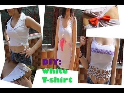 DIY | Ridare vita a vecchie maglie bianche | DIY T-Shirt recostruction