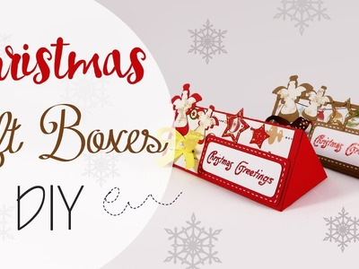Tuto: Scatole Regalo di Natale - ENG SUBS Christmas Gift Boxes DIY